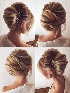 Neatly Done Wedding Bun for Long Hair
