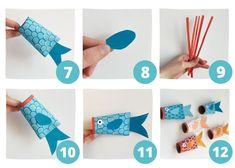 3 Fun DIY Sea Creatures: Toilet Paper Roll Crafts for Kids Cool Diy, Fun Diy, Toilet Paper Roll Crafts, Cardboard Crafts, Toddler Crafts, Crafts For Kids, Sea Creatures Crafts, Diy Pour Enfants, Under The Sea Crafts