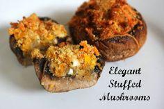 Yummy elegant stuffed mushrooms