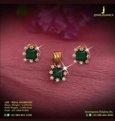 Saved by radha reddy garisa Emerald Jewelry, Beaded Jewelry, Diamond Jewelry, Diamond Necklaces, Gold Earrings Designs, Gold Jewellery Design, Gold Jewelry Simple, Diamond Earing, Wedding Jewelry