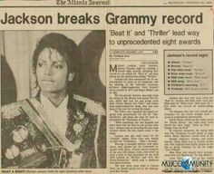 Michael Jackson made headline- and history- back in 1984.