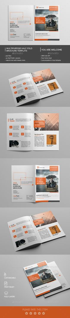 Pin by Mohammad Rasel on Corporate Bi-Fold Brochure Design - technology brochure template