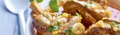 Langzaam gegaarde lamsschenkel met curry en yoghurt
