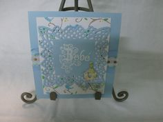 Stampendous, Spellbinders and Cuttlebug Baby Boy Card