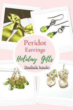 Peridot Jewelry, Peridot Earrings, Gemstone Jewelry, Vip Group, Special Promotion, Custom Jewelry, Earrings Handmade, Birthstones, Holiday Gifts