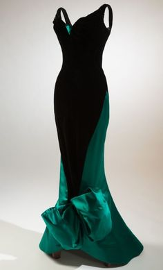 Evening dress, Charles James, 1955. Do we love Charles James. What a show at the met.