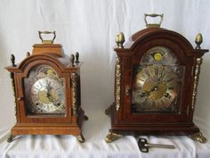 On eBay now with FREE POST anywhere this Large 11'' Dutch Vintage Warmink Burl Wood Bracket Clock Rolling Moon Phase http://www.ebay.co.uk/itm/390847746900?ssPageName=STRK%3AMESELX%3AIT&_trksid=p3984.m1558.l2649