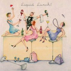 Cocktail Girl Illustration Art