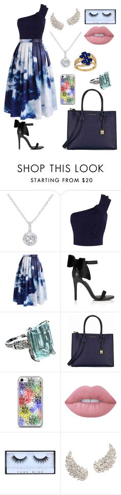 """Untitled #321"" by catarina-de-sousa-lopes on Polyvore featuring EWA, Chicwish, Miss Selfridge, Michael Kors, Lime Crime, Huda Beauty and Lord & Taylor"
