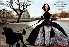 Katy Perry for Vanity Fair with poodle------actually had a beautiful Standard Poodle like this growing up!