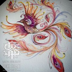 Phoenix painting done a while back for the fantastic @colesdee fire sleeve…