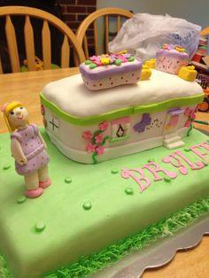 Lego Friends cake-