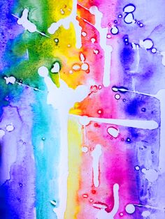 Abstract with masking fluid