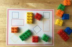 Actividad para aprender formas y colores con LEGO DUPLO