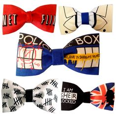 your fandom in Bowties Supernatural Crafts, All Doctor Who, Geek Crafts, Bowties, How To Run Faster, Inspired Outfits, Superwholock, Sherlock, Cloths