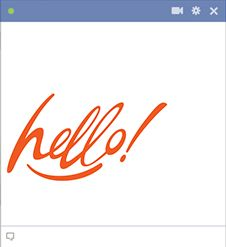 Greet someone you know on Facebook with a simply yet colorful hello.
