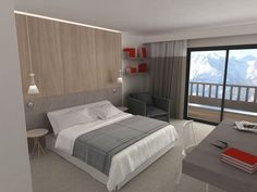 Chambre supérieure hôtel l'héliopic - Chamonix mont-blanc. Plus d'informations sur: www.heliopic-hotel-spa.com - new hotel, not open till 12/16/13 - bummer!