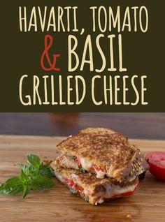 havarti, tomato, basil grilled cheese