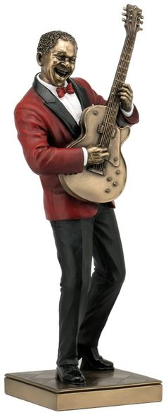 Jazz Band Guitar Player Figurine Sculpture Statue-Home Décor-Decorations-Music Related Gifts-Available for Sale at AllSculptures.com