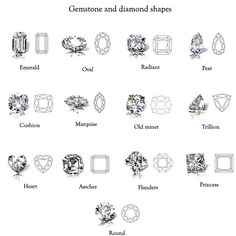thank you! gemstone and diamond shapes
