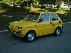 "Fiat | eBay Motors    1976 Fiat 126P Ginster Yellow (factory Fiat color) with black interior, 47,619 original kilometers (29,762 miles), 4 speed manual. Brought back to ""new"" condition at 36,493 kilometers in 2007 using original Fiat parts/panels and everything that could have been replaced was. Car was built as an art project headed personally by Wlodek Pawluczuk (5 time Polish rally champion).    It performs as new - can be driven daily anywhere."