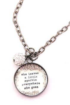 she leaves a little sparkle [CNL35] - $40.00 : Beth Quinn Designs , Romantic Inspirational Jewelry