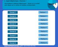 Conversation télephonique Fle, Telephone Call, Exercise