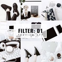 White Instagram feed theme ideas, with white filter D1 in Preview app:  • Desaturated  • Bright  • Pale  • Awesome for photos with high contrasting colors in them (like black & white)    Check the White Filter Packs to make white Instagram themes.