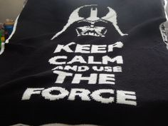 star wars use the force afghan by CrossStitchGraphghan on Etsy, $75.00