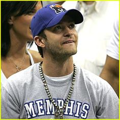 Justin Timberlake supporting the Memphis Tigers - didn't think he could get any hotter but throw on some Tigers gear and WOW!