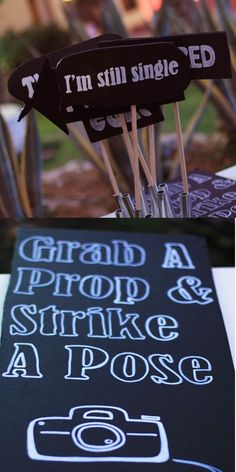 My real wedding: wedding photo booth   wedding photo signs   #ideas #DIY crafts #wedding