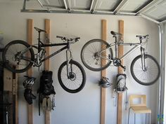 Bike rack for garage with wall mount models