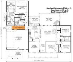 Family House Plans, New House Plans, Dream House Plans, Brick Ranch House Plans, Porch Plans, Modern Farmhouse Plans, Rustic Farmhouse, Roof Detail, Architectural Design House Plans