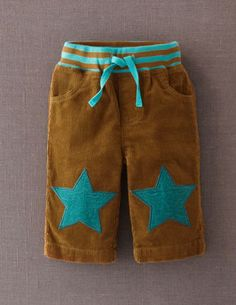 Baby Star Patch Trousers from Mini Boden My son will be so cute in these!!! (A treat for mommy?!)