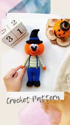 This listing is an original pattern written in English. The toy measures approximately 26 cm /10,24 inches. The pattern includes instructions on how to make a pumpkin. Crochet Cat Pattern, Dog Pattern, Crochet Bear, Crochet Toys Patterns, Crochet For Kids, Amigurumi Patterns, Handmade Ideas, Etsy Handmade, Handmade Crafts