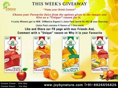 #Joybynature #GIVEAWAY  #Favourite #Fruit #Drink -  #Name your Drink #contest http://www.gettopdeals.blogspot.com/2014/05/joybynature-giveaway-favourite-fruit.html