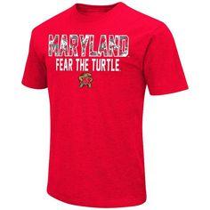 Men's Campus Heritage Maryland Terrapins Camo Wordmark Tee, Size: Medium, Dark Red