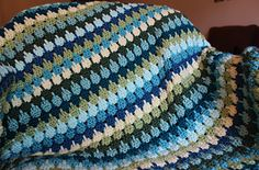 This pattern is written so you can create an afghan of any size and use any weight yarn. The sample is medium worsted yarn with an I hook.