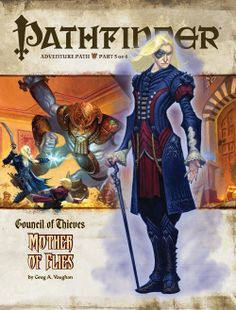 Pathfinder Adventure Path #29: Mother of Flies (Council of Thieves 5 of 6) (PFRPG) | Book cover and interior art for Pathfinder Roleplaying Game - PFRPG, 3rd Edition, 3E, 3.x, 3.0, 3.5, 3.75, Role Playing Game, RPG, Open Game License, OGL, Paizo Inc. | Create your own roleplaying game books w/ RPG Bard: www.rpgbard.com | Not Trusty Sword art: click artwork for source