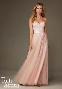 Bridesmaids Dress 132 Tulle with Embroidery and Beading $180