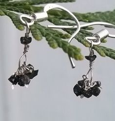 Delicate Diamond Dangle Earrings by Created2Inspire on Etsy, $65.00