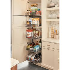Rev-A-Shelf Orion Gray 5374 Series 15 Inch by 75 Inch Tall Two Tier Pull Out Pantry Cabinet Organizer with 5 Adjustable Shelves Rev-A-Shelf 5374 Series 15 Inch by 75 Inch Tall Two Tier Pull Out Pant Orion Gray Tall Cabinet Organizers Pull. Installing Cabinets, Pantry Design, Pantry Closet, Cabinets Organization, Kitchen, Shelves, Kitchen Remodel, Kitchen Pantry Design, Rev A Shelf