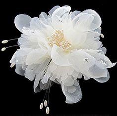 Miracle 1 pcs Glamour dondolati avorio bianco fiori in punte Lace e Perla, Gioiello matrimonio Jugendweihe per capelli sposa: Amazon.it: Bellezza