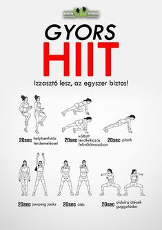 Kezdők 3, haladók 6 sorozatban csinálják. Sorozatok között 20-30mp-et pihenhetsz. ;)  #teedzel #simonfitness #edzes #gyerunk #mozgas #sport Gym Workout Chart, Gym Workouts, Weight Loss Motivation, Fitness Motivation, Fitness Tips, Health Fitness, Lose Thigh Fat, Reflexology, Tabata