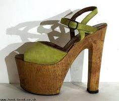 d7a47ab744ce green suede super tall Italian disco platform sandals - platforms - platform  shoes - size 6 - tall platforms with wood heels