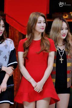 Red dress. Miss A Suzy.