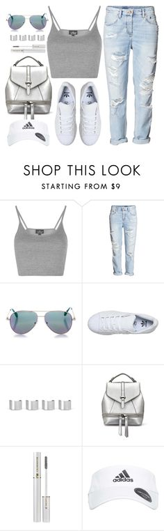 """""""Untitled #3757"""" by monmondefou ❤ liked on Polyvore featuring Topshop, H&M, Cutler and Gross, adidas, Maison Margiela and Lancôme"""