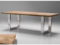 Mobital Provence 94 x 39 Rectangular Reclaimed Solid Wood Top Dining Table with Steel Legs