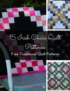 Irish chain quilt patterns all share a common technique and look, but no two Irish chain quilts are the same. These stunning, traditional quilting patterns combine several techniques all quilters use to create designs that resemble the classic design Beginner Quilt Patterns, Quilt Block Patterns, Quilting Tutorials, Quilt Blocks, Easy Patterns, Celtic Patterns, Quilting Ideas, Celtic Quilt, Traditional Quilt Patterns