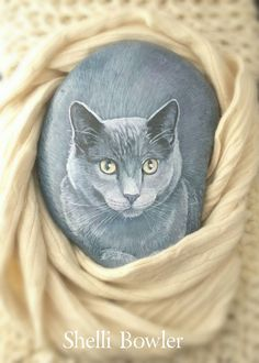 Check out this item in my Etsy shop https://www.etsy.com/listing/222379768/cats-realistic-pet-portrait-on-a-stone-8